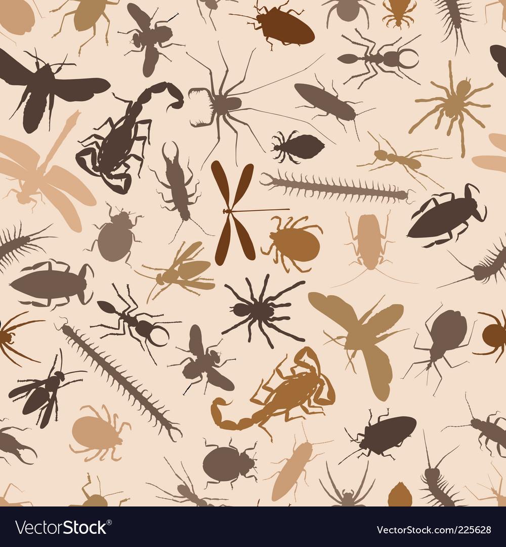 Bugs seamless tile vector image