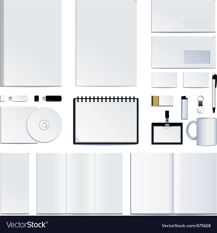 Corporate identity presentation vector image