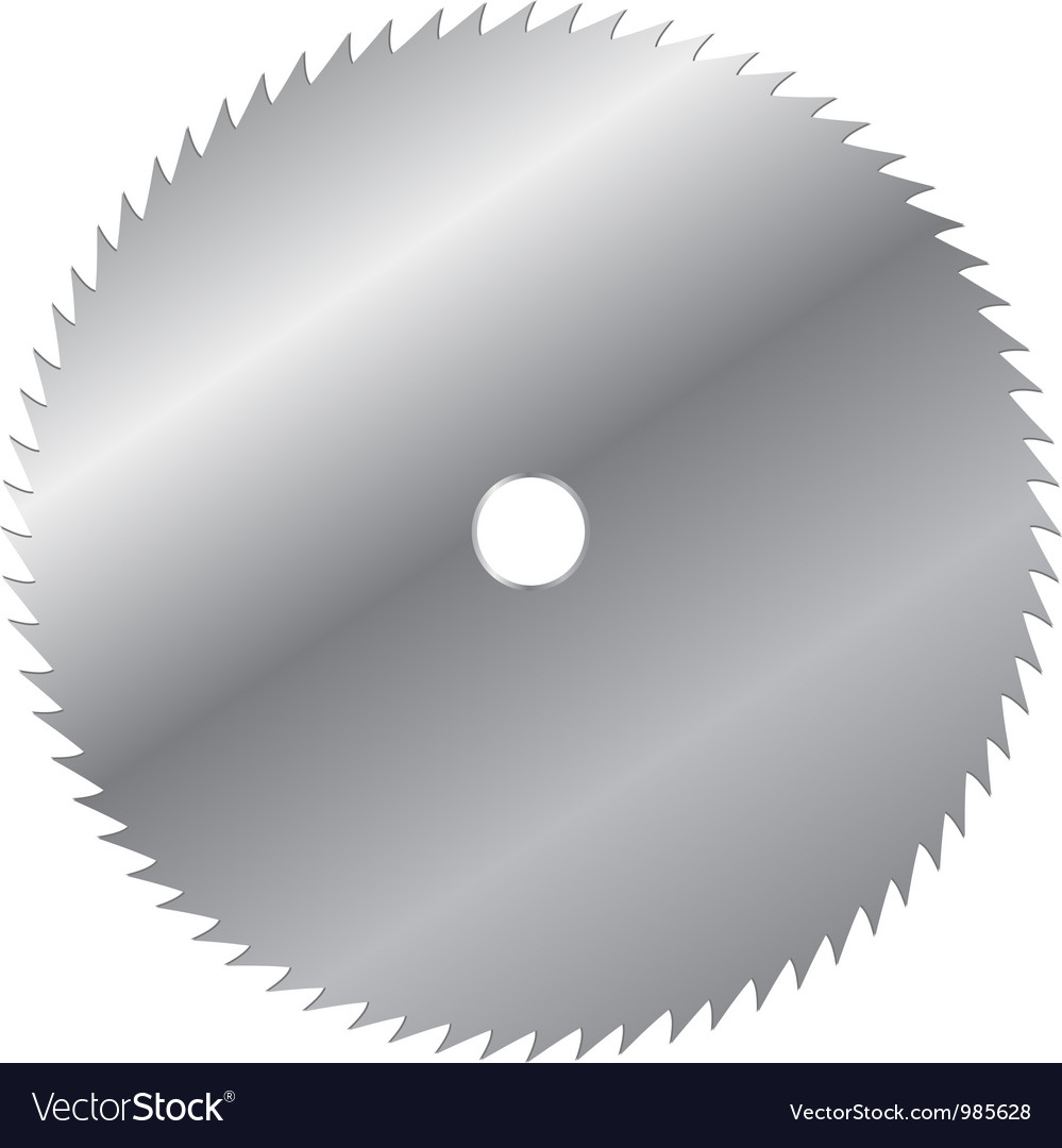 Saw blade vector image