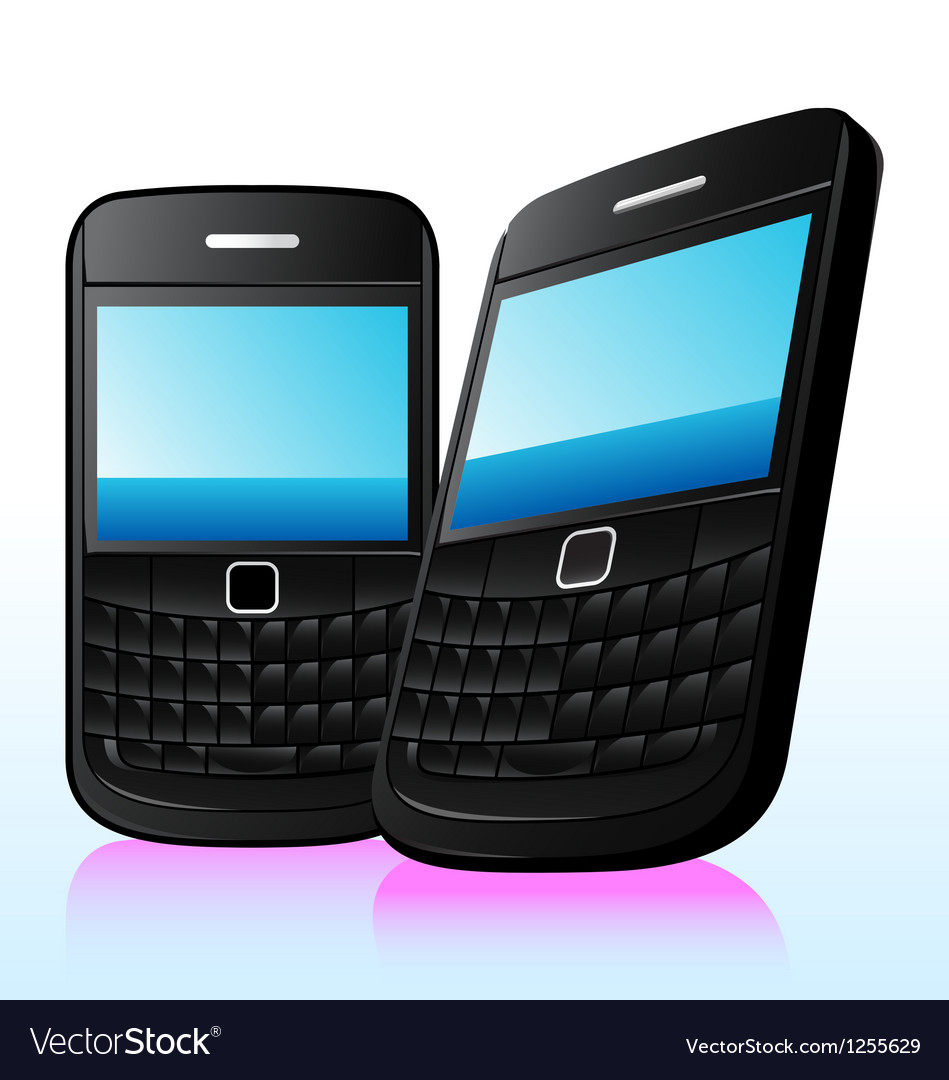Qwerty phone vector image