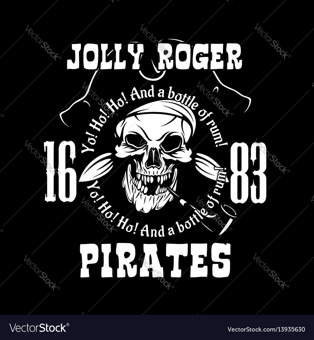 Pirates jolly roger symbol poster of skull vector image buycottarizona Images