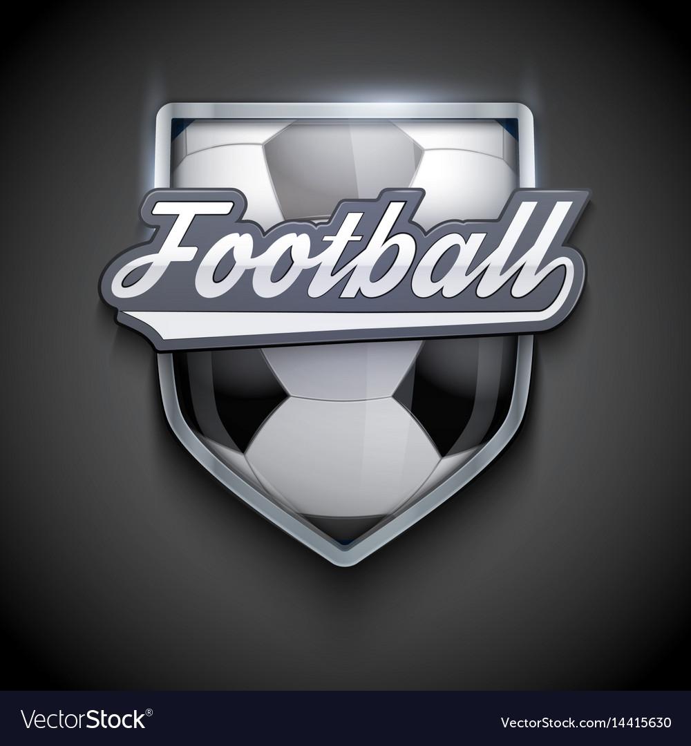Premium symbols of football emblem vector image