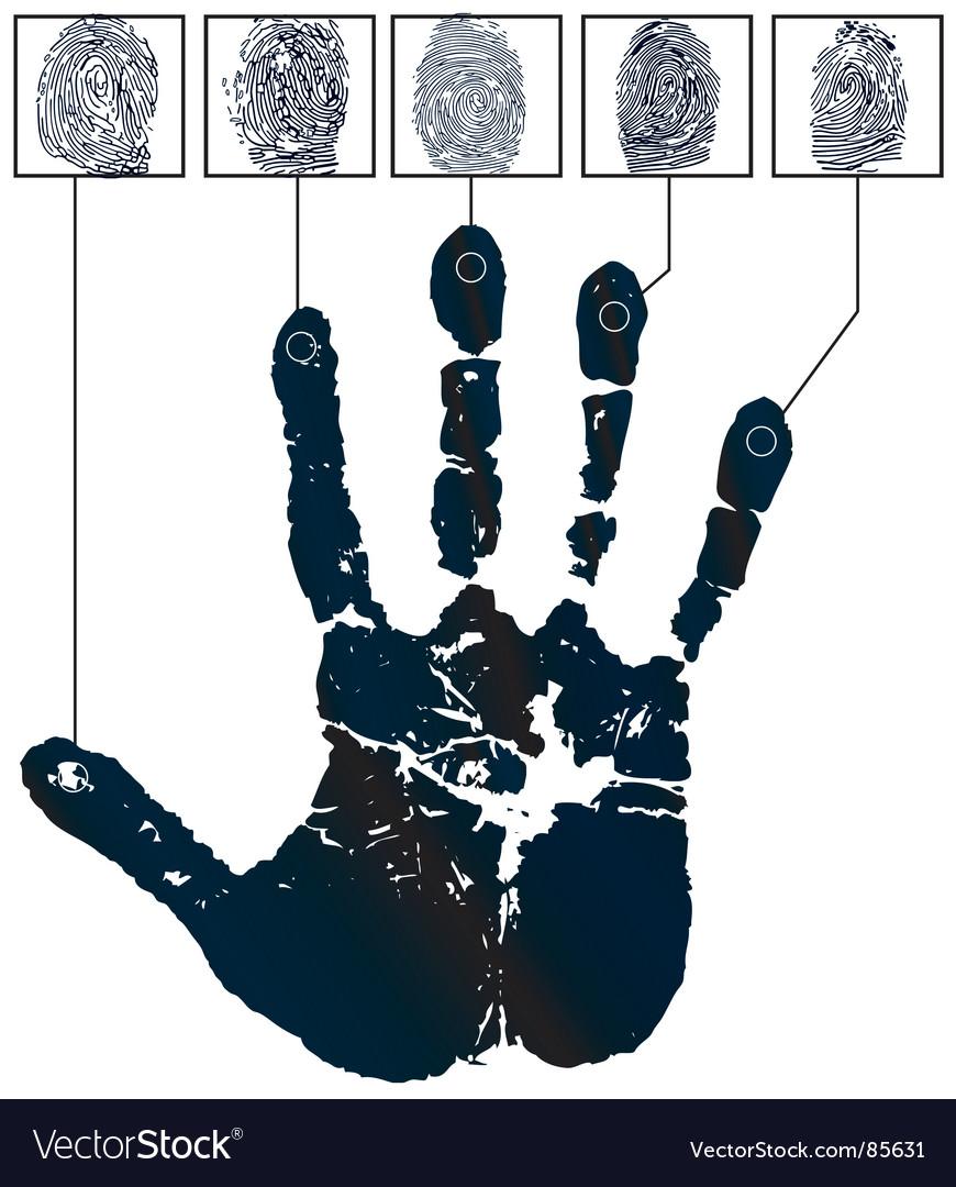 Hand-prints vector image