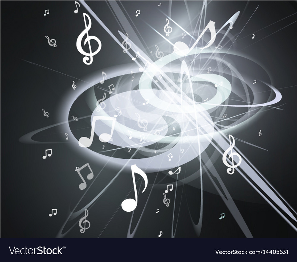 Music background wallpaper player notes vector image
