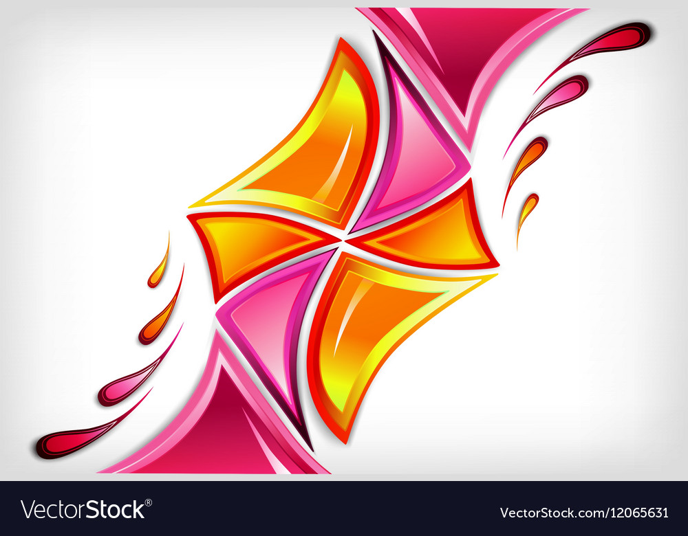 Splash in various pink colours background vector image
