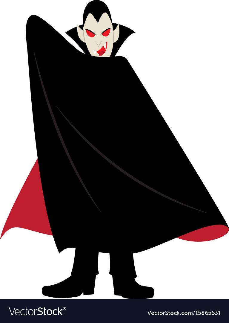 Vampire halloween cartoon character vector image
