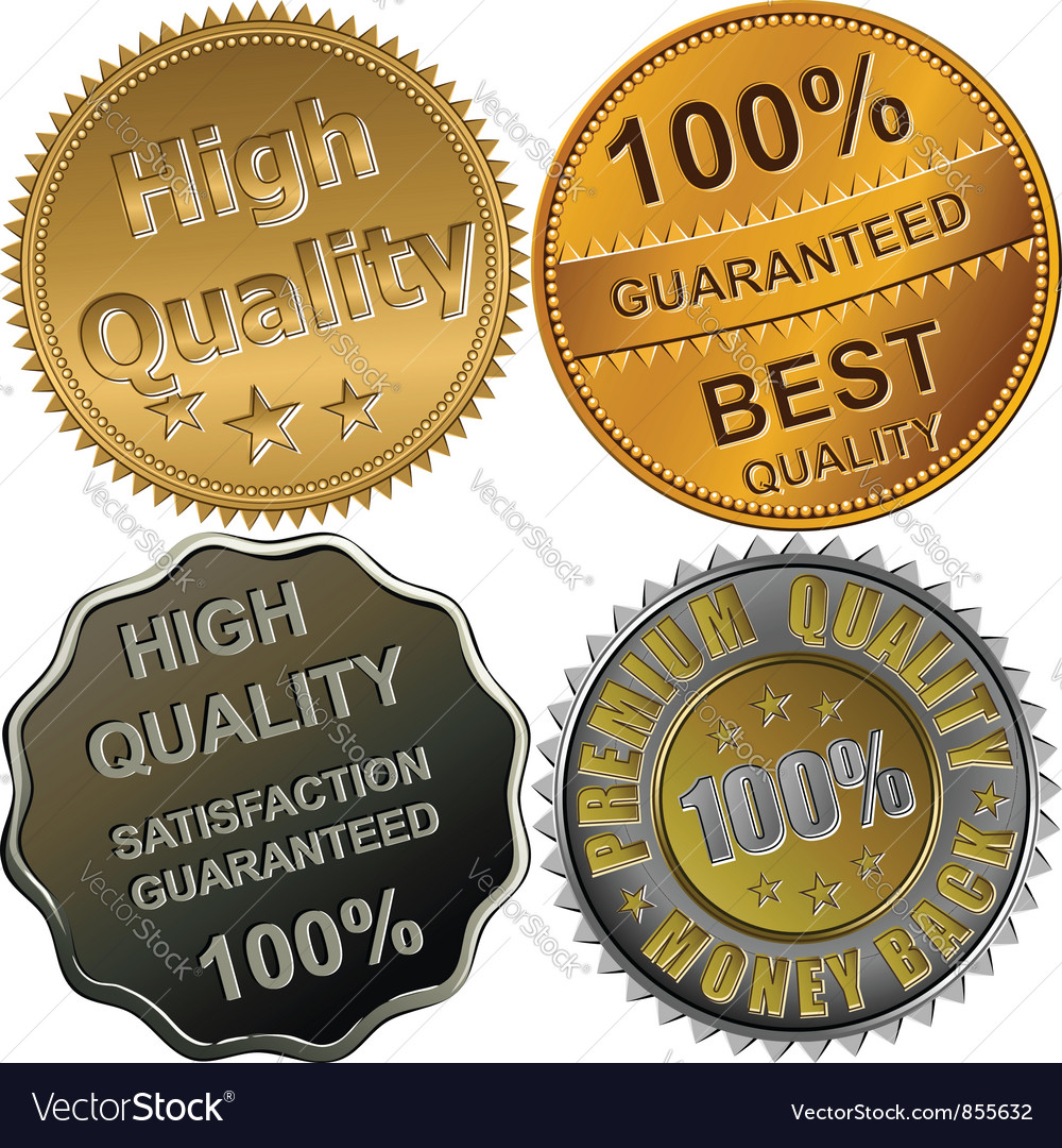 Gold silver and bronze medals for quality vector image