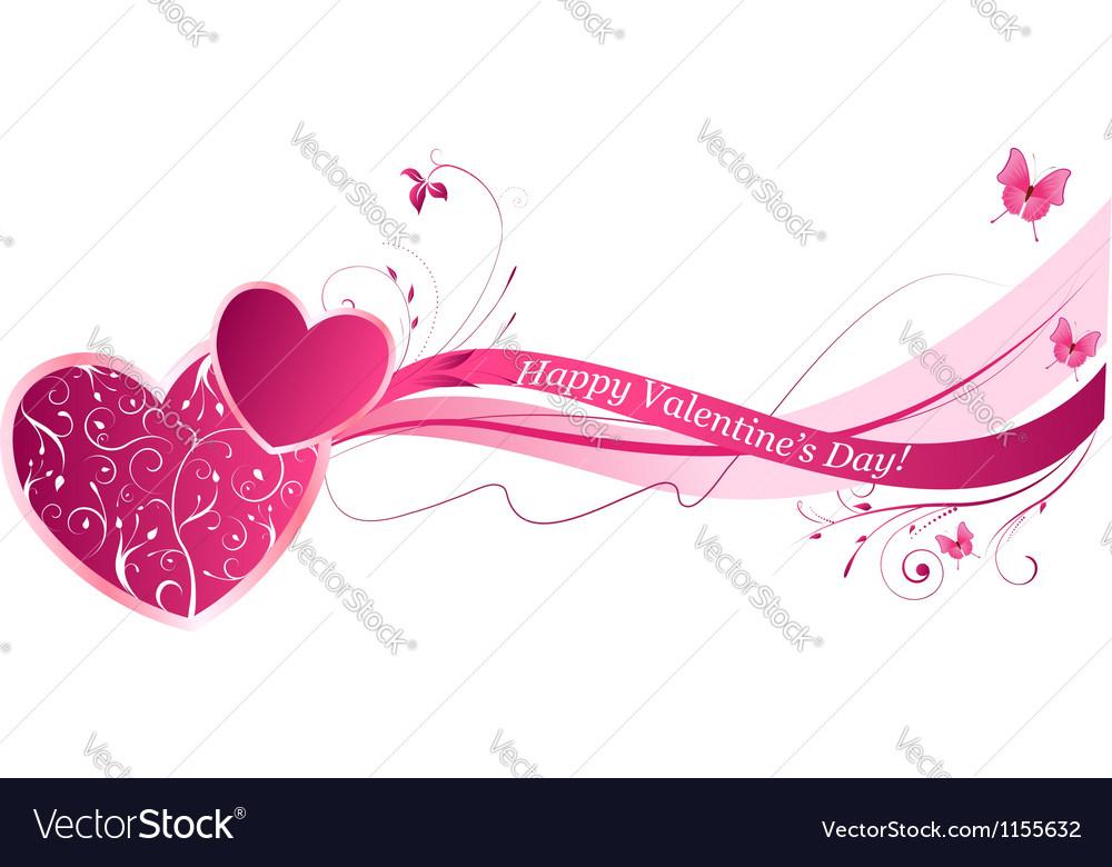 Heart wave design vector image