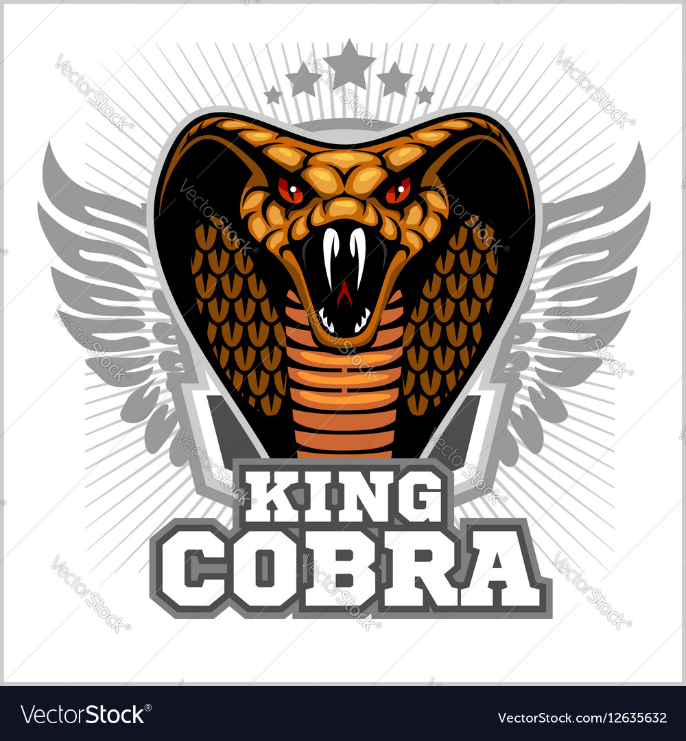 King cobra - mascot template design vector image
