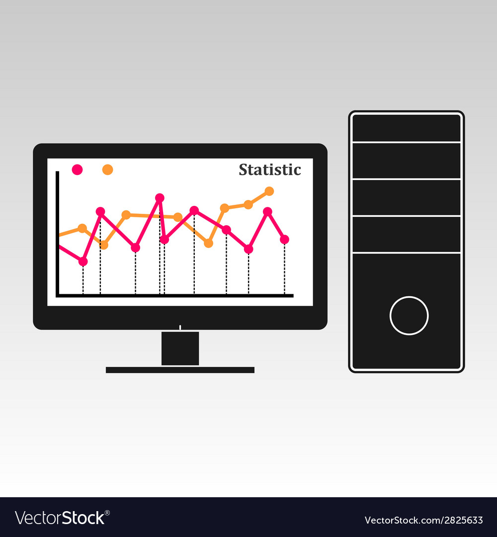 Computer info graphic vector image