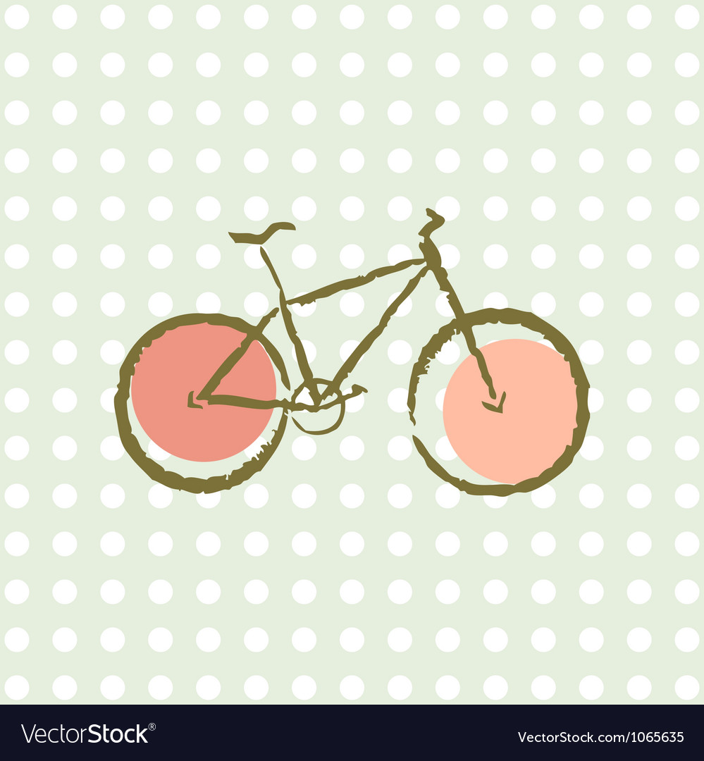 Old retro bicycle vector image