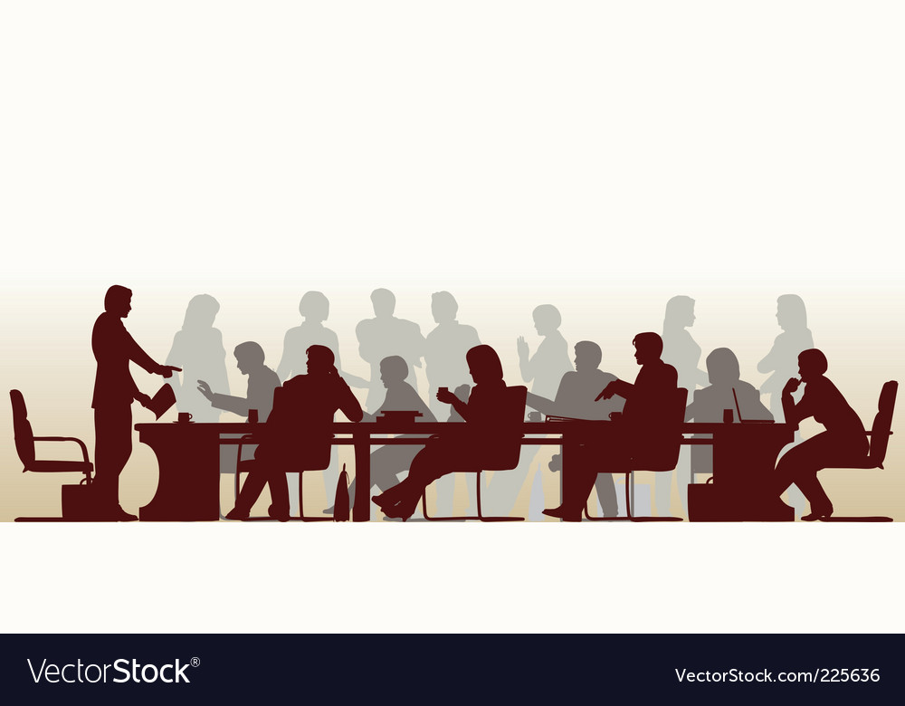 Busy meeting Vector Image