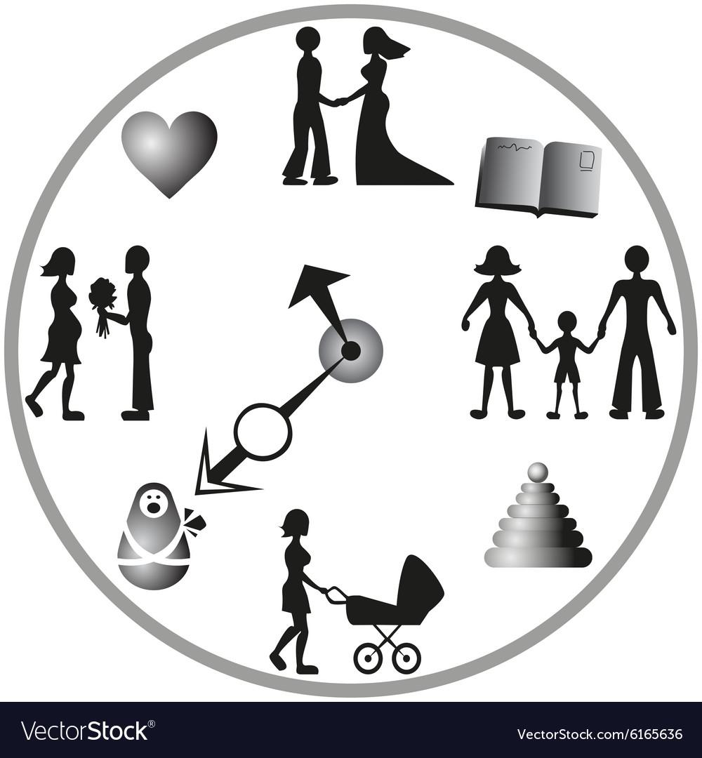 Life circulation vector image