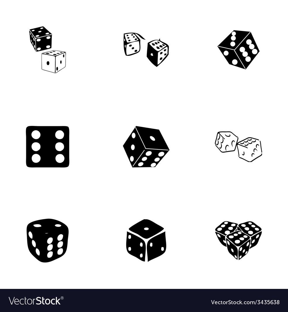 Dice icon set vector image