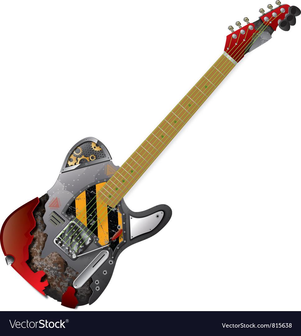 Guitar Frankenstein vector image
