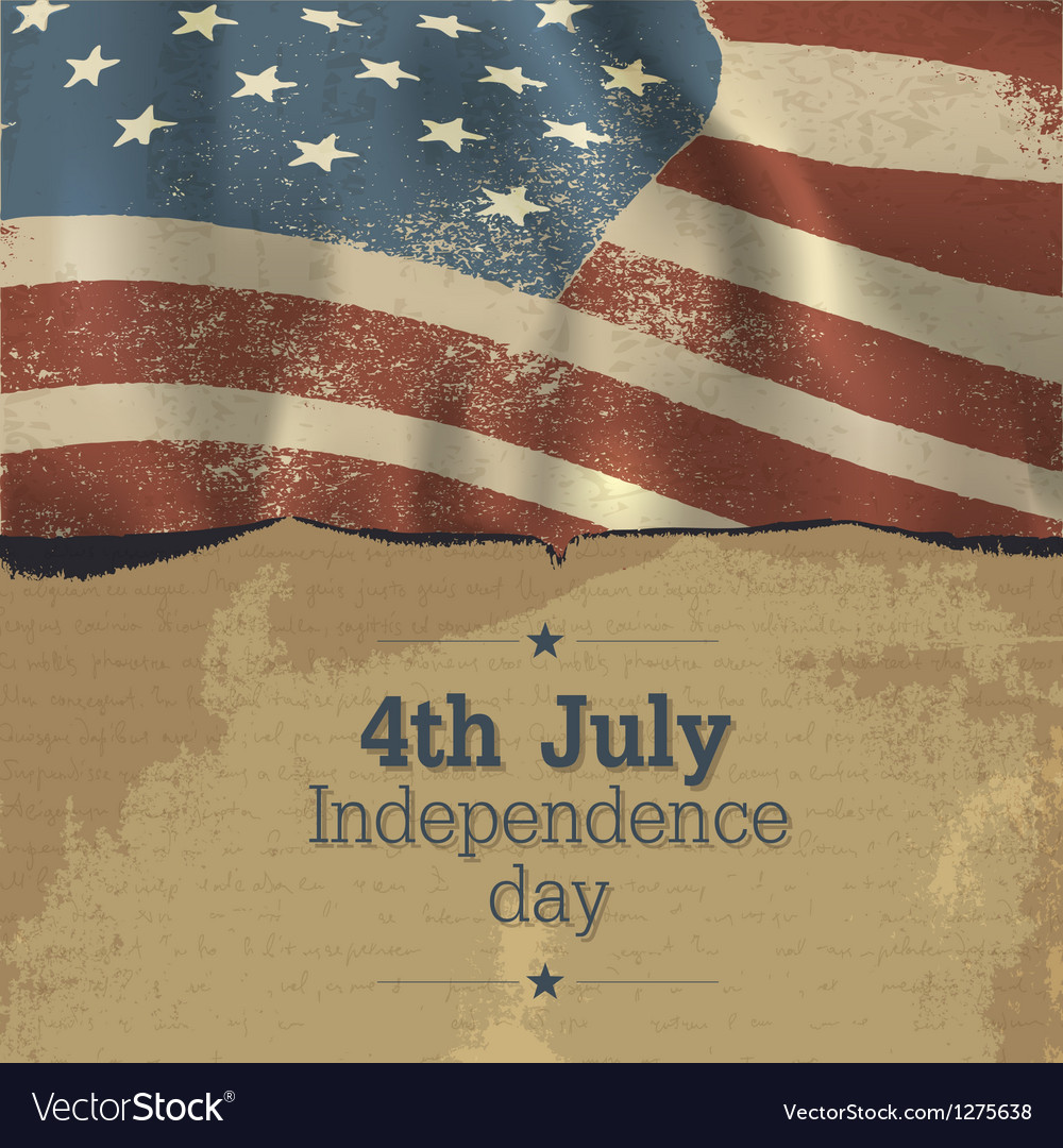 Independence day vintage poster design vector image