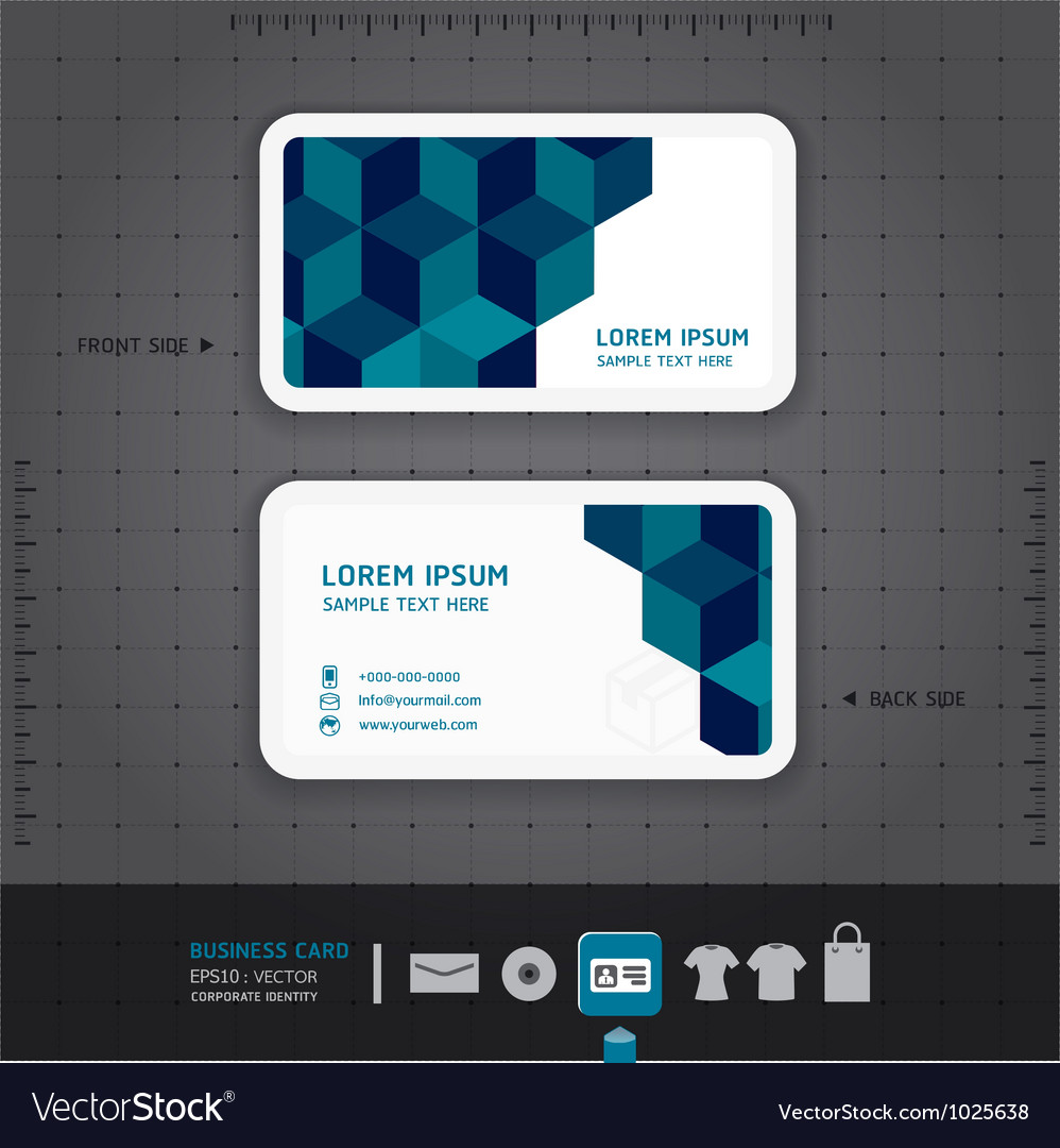 Modern Business-Card Design Royalty Free Vector Image