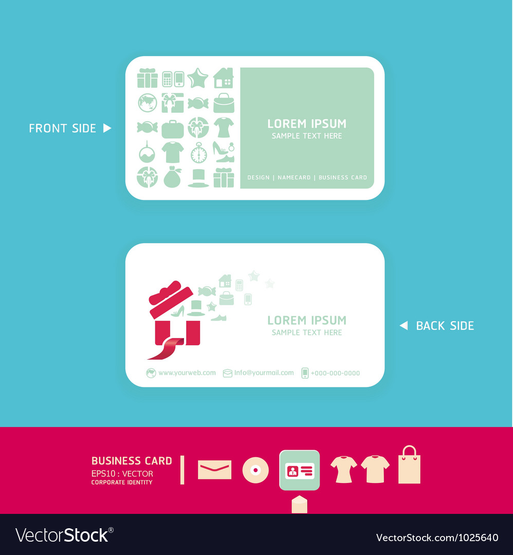 Modern soft color Card design with shopping icons Vector Image