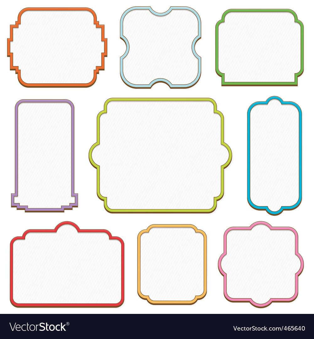 decorative frames vector image - Decorative Picture Frames