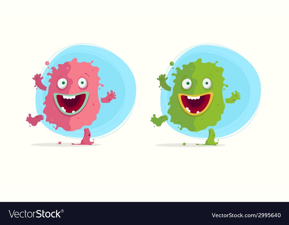 Cartoon monster character vector image