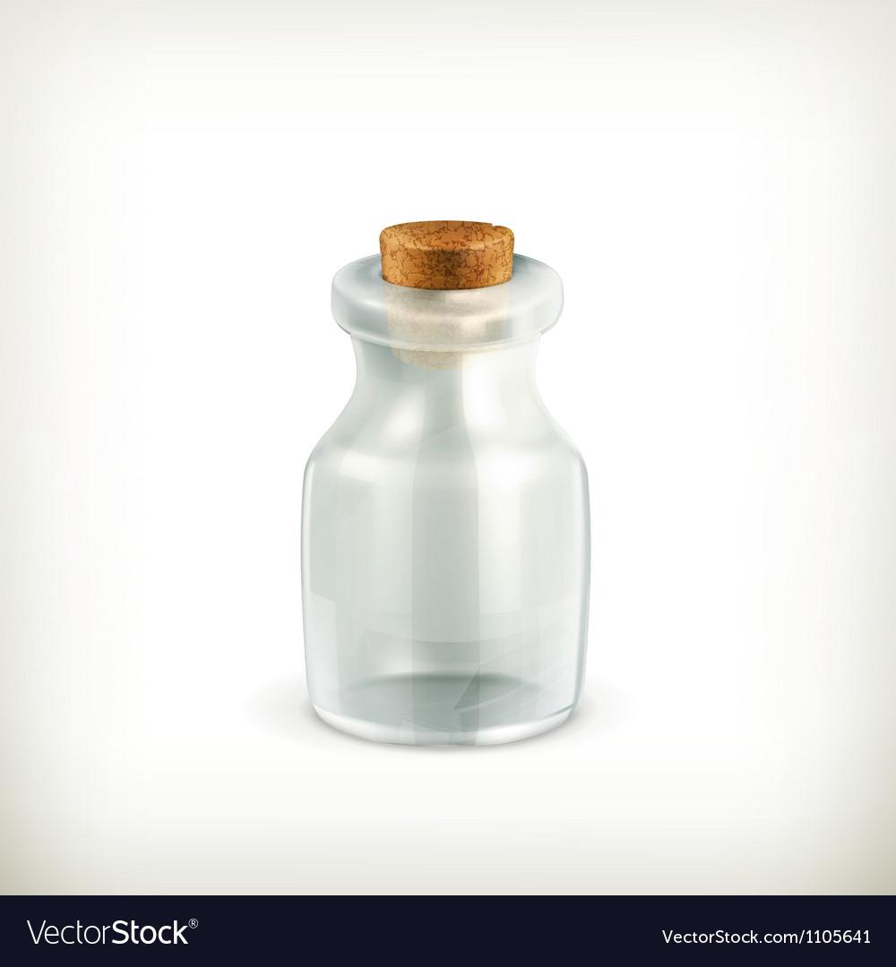 Empty jar icon Vector Image