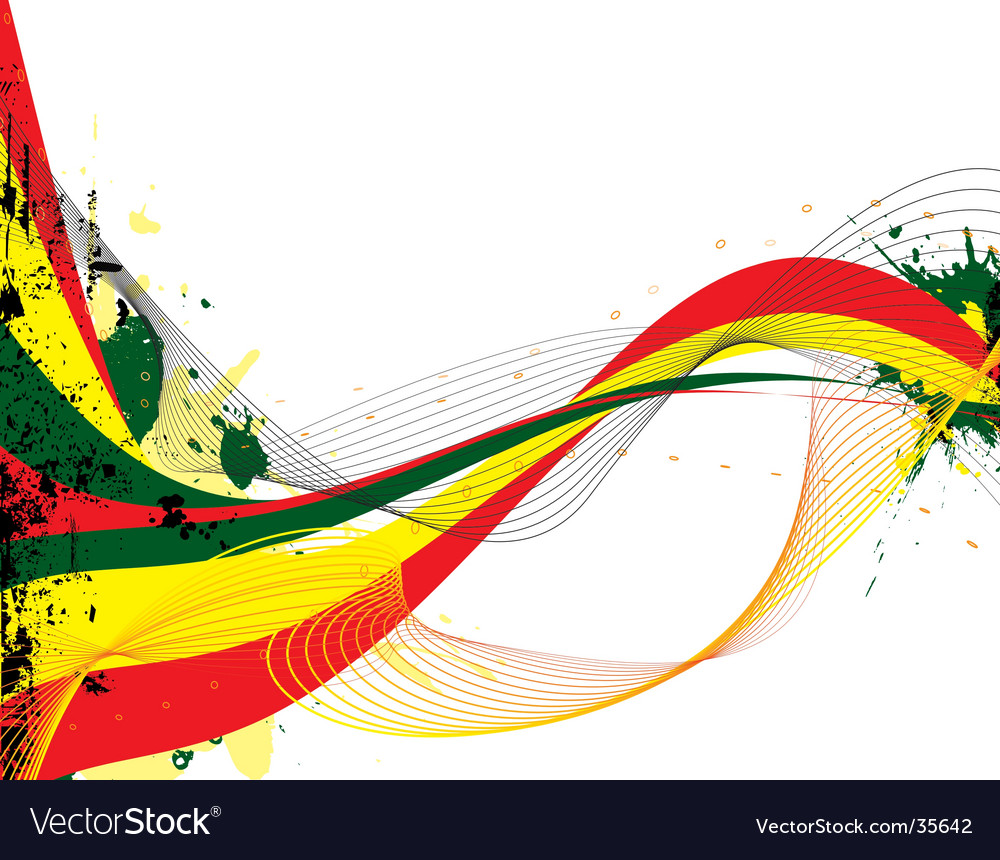 Rasta flow vector image