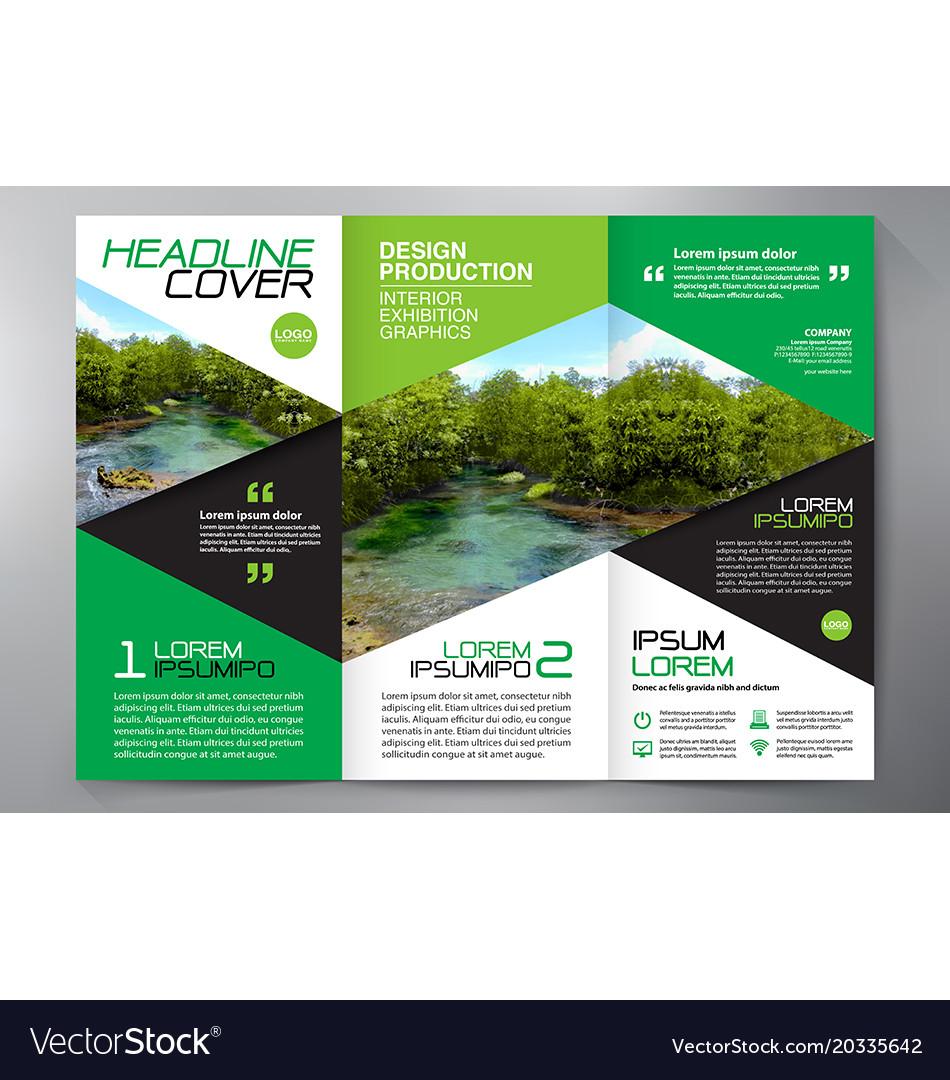 Brochure 3 fold flyer design a4 template vector image saigontimesfo