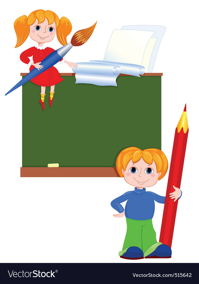 Children in the class vector image