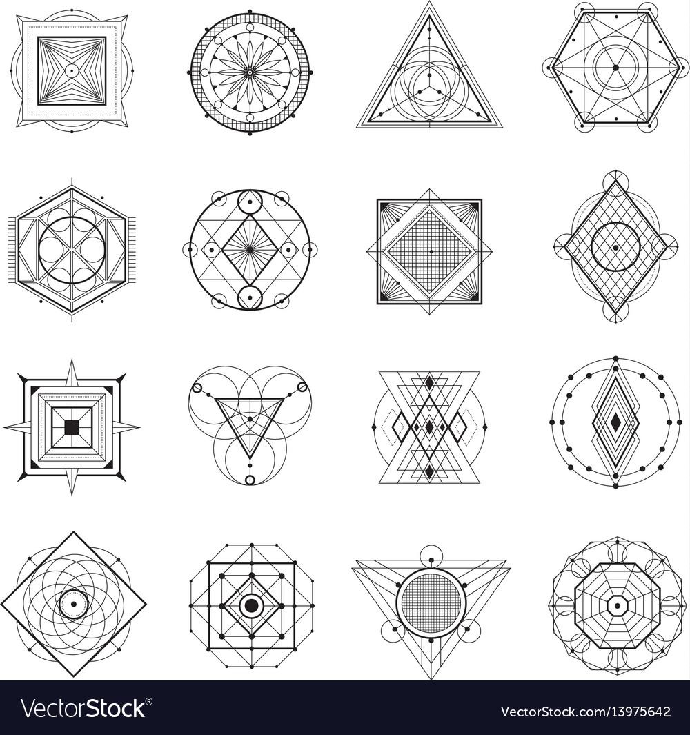 Sacred geometry set vector image