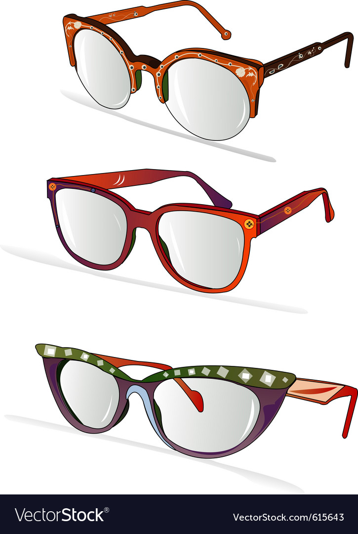 funky glasses  Funky glasses Vector Image by bernil - Image #615643 - VectorStock