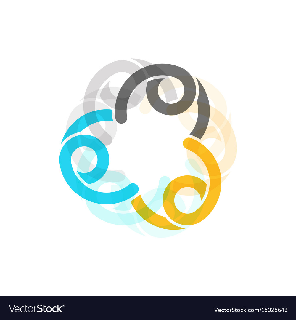 Color sign of unity and family template vector image