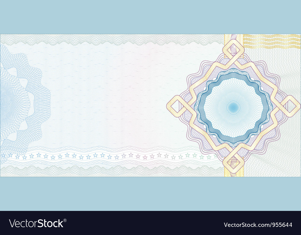 Guilloche Background for Voucher Vector Image