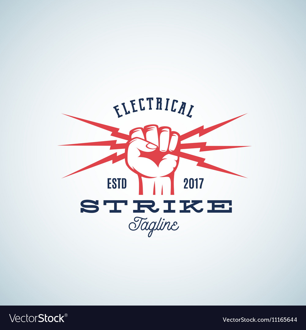 Electrical Strike Power Abstract Emblem or vector image