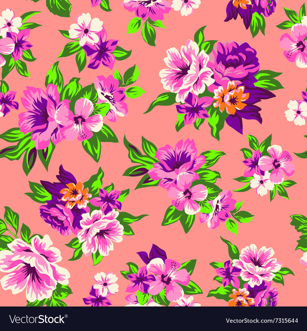 Sweet roses seamless background vector image