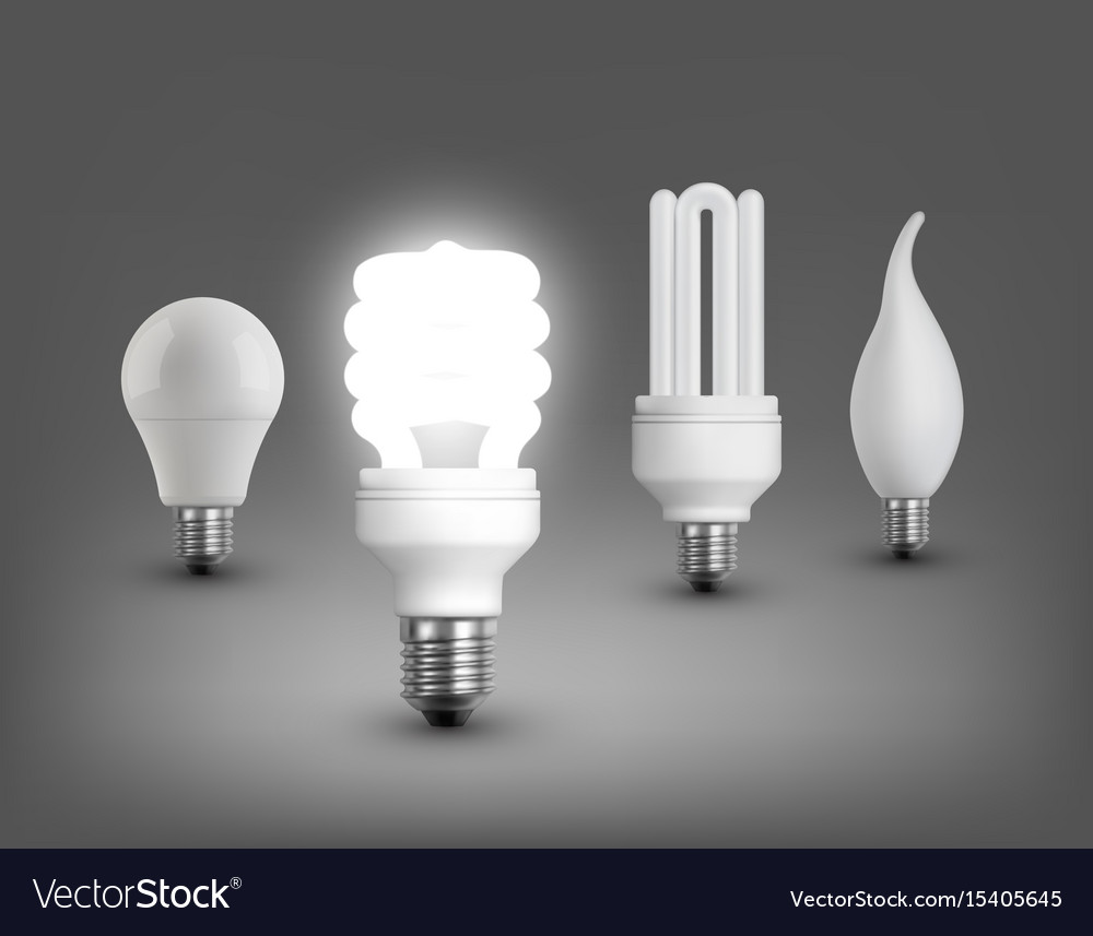 Realistic lamps collection vector image