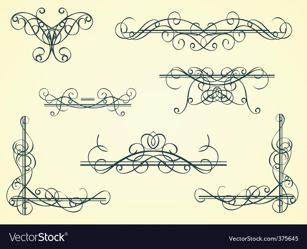 Vintage decorative garnishes vector image