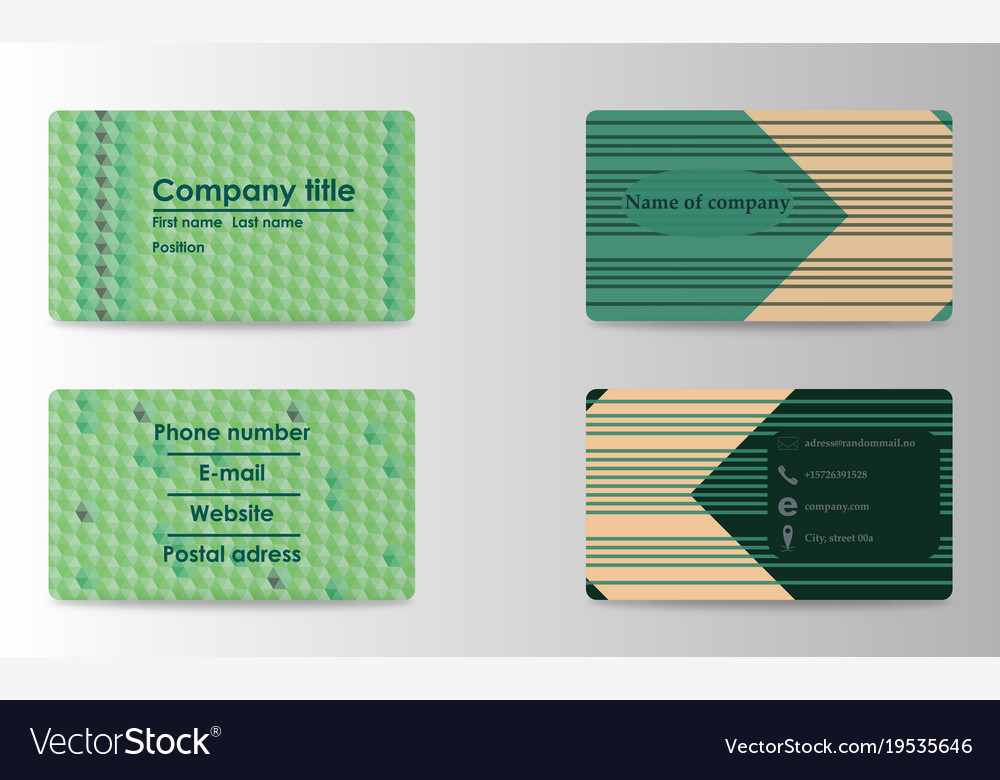 Elegant template luxury business card with modern vector image