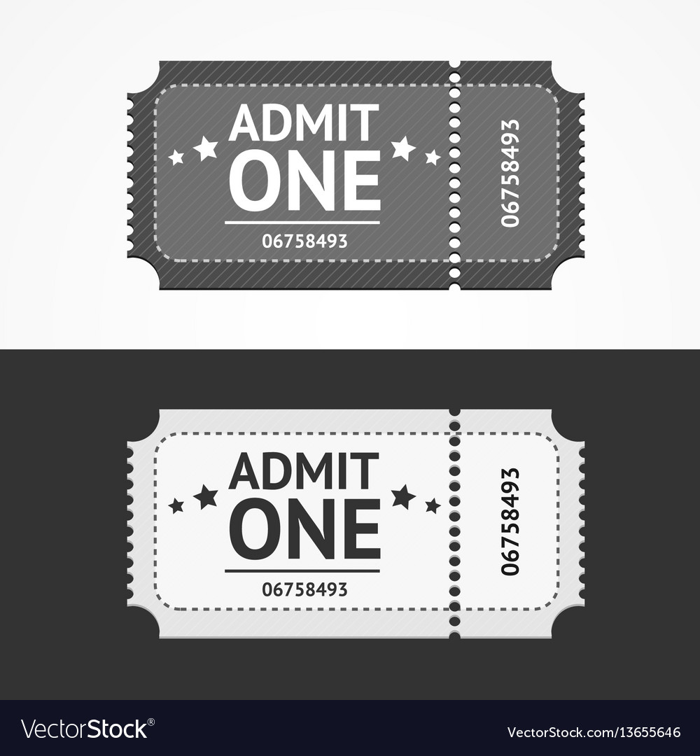 Ticket icon blank admit set vector image