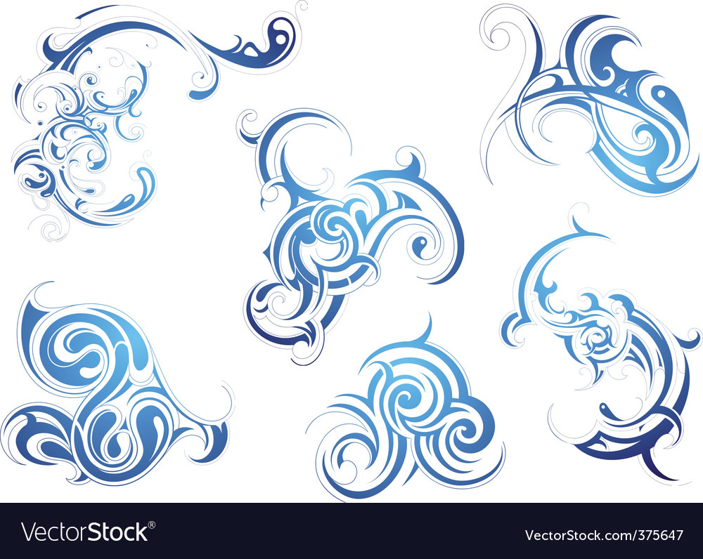 Tribal design elements vector image