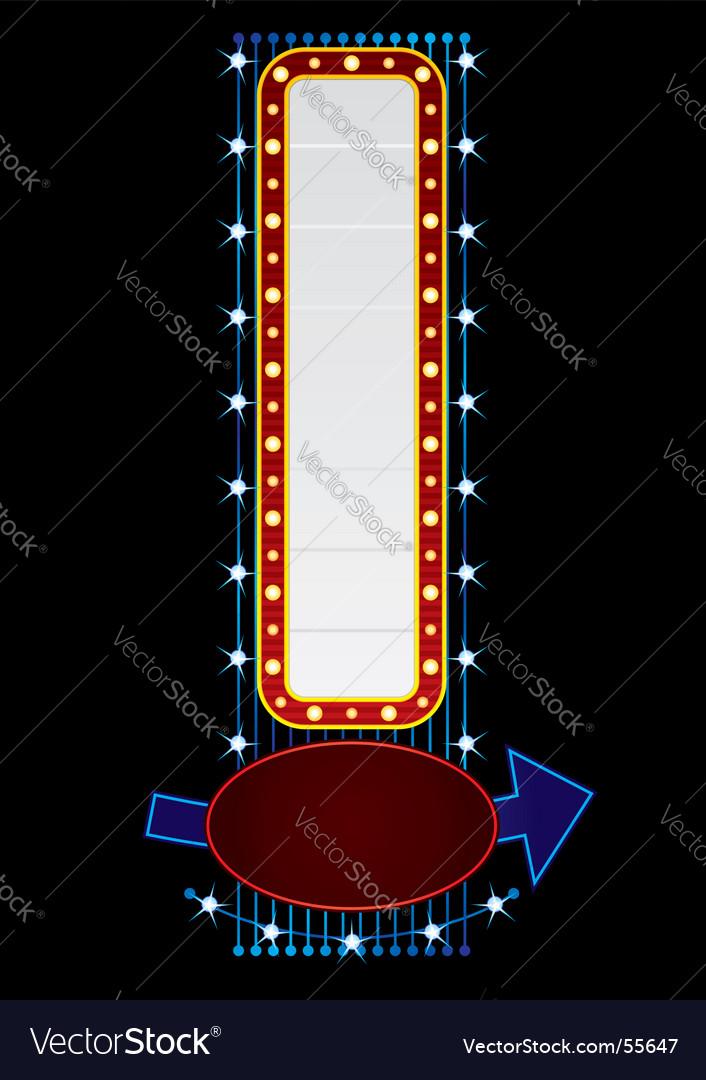 Vertical neon vector image