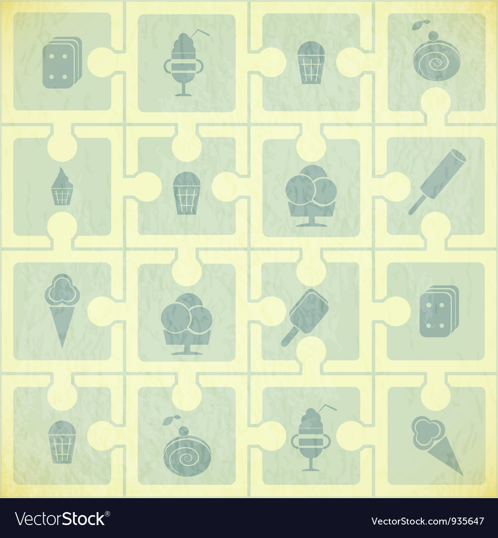 Ice Cream Pattern vector image