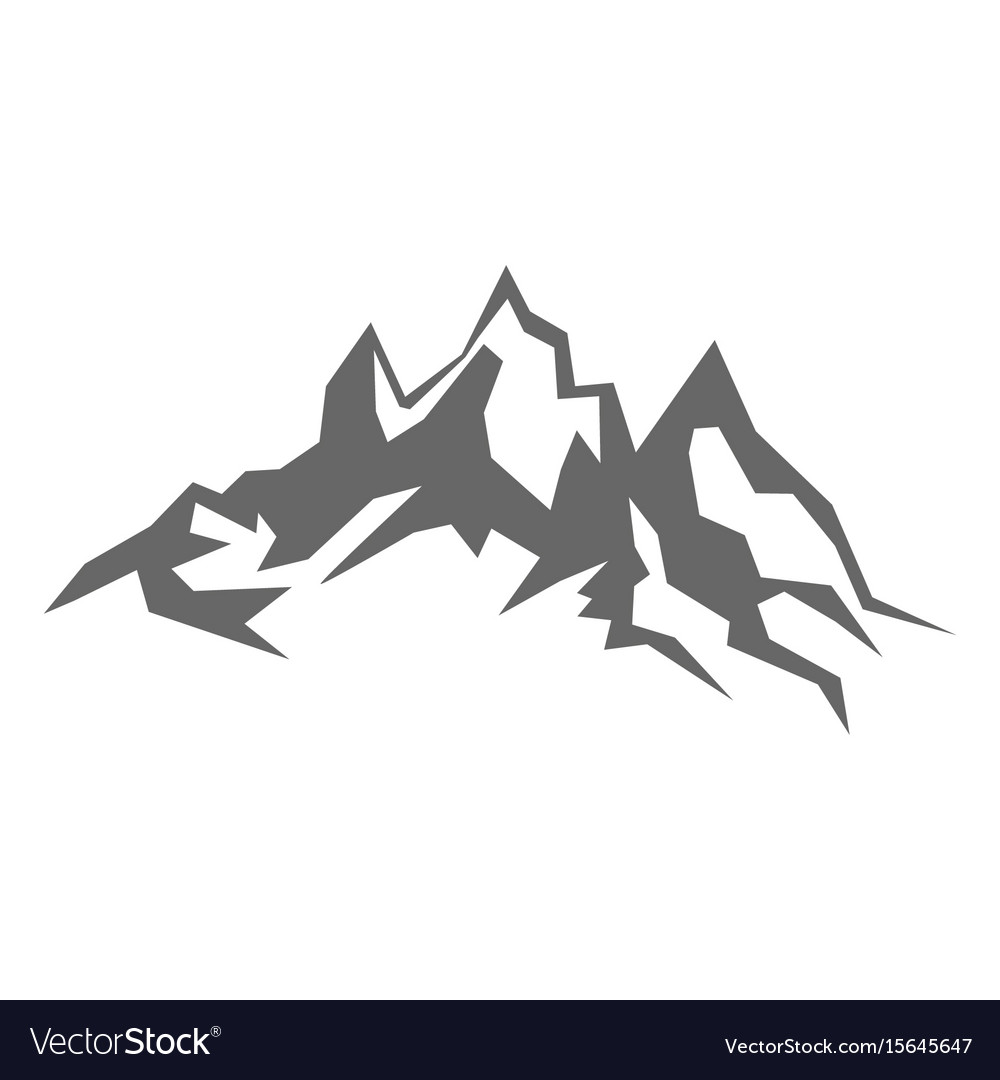 Mountain Silhouette rock mountain silhouette royalty free vector image