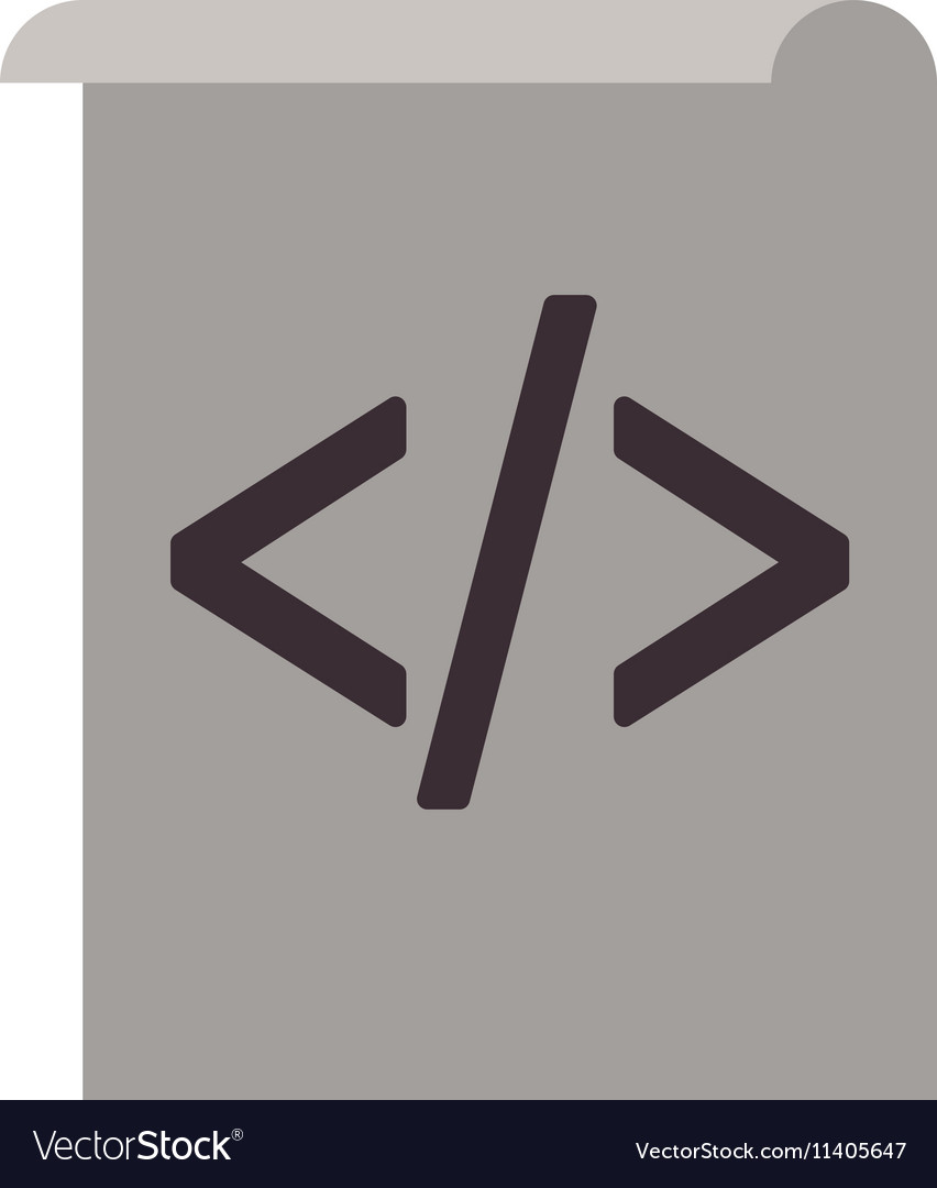 Web coding icon vector image