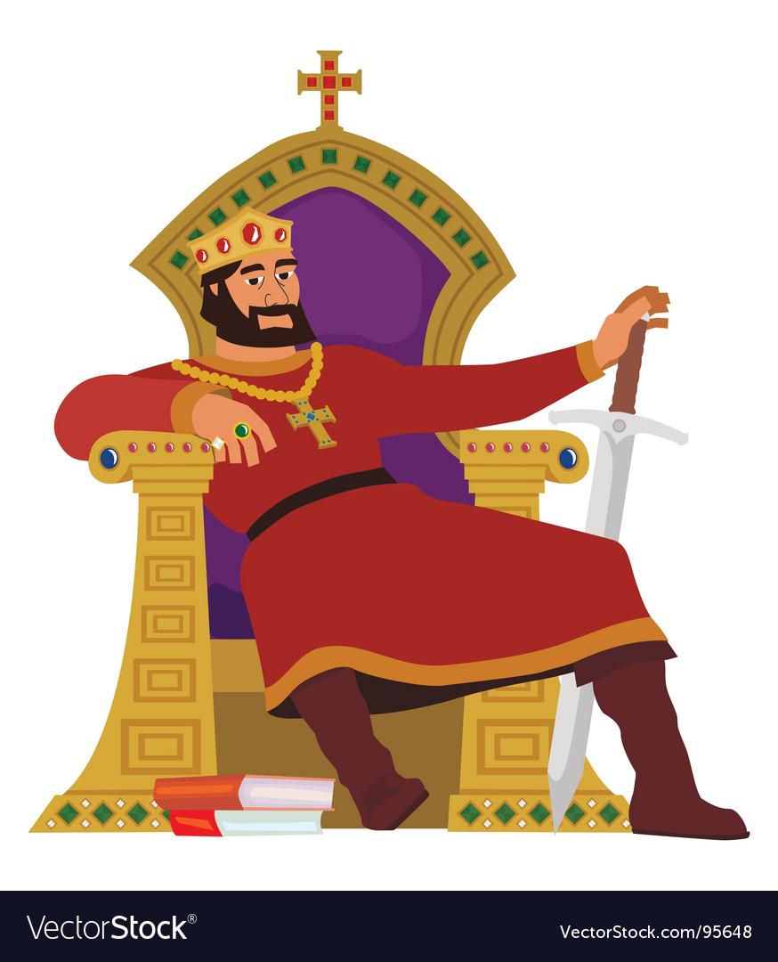 Happy king vector image