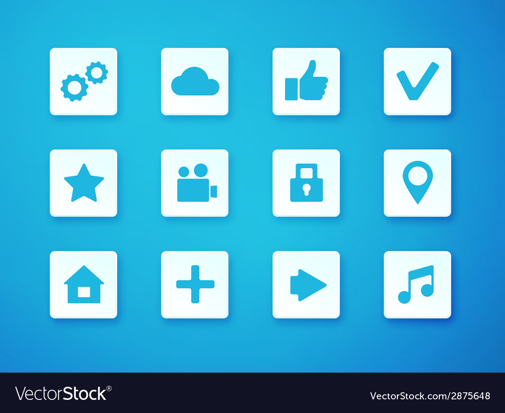 Apps icon set over blurry background vector image