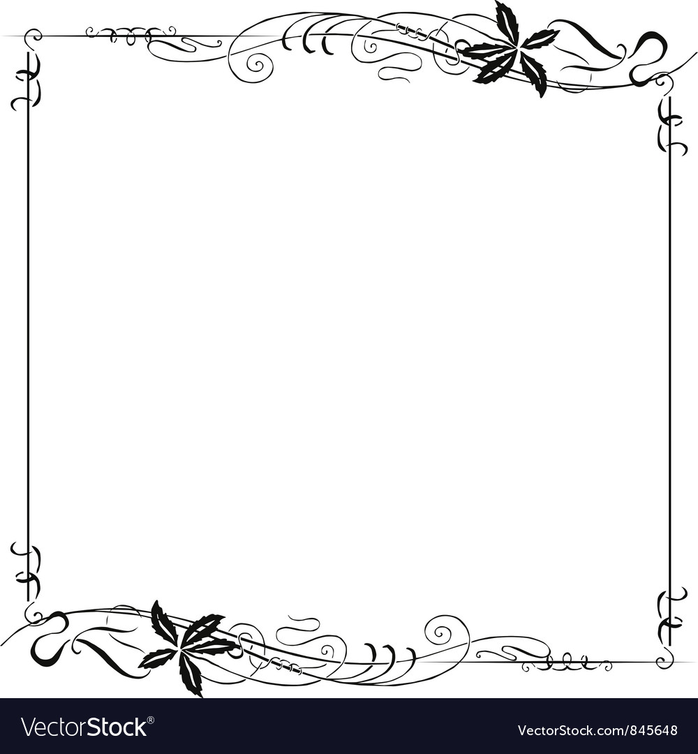 Frame Ornate Art Nouveau vector image