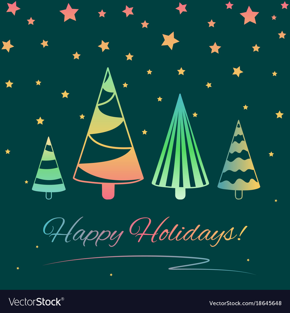 Greeting card for winter holidays vector image