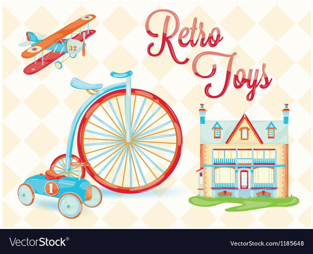Retro toys vector image