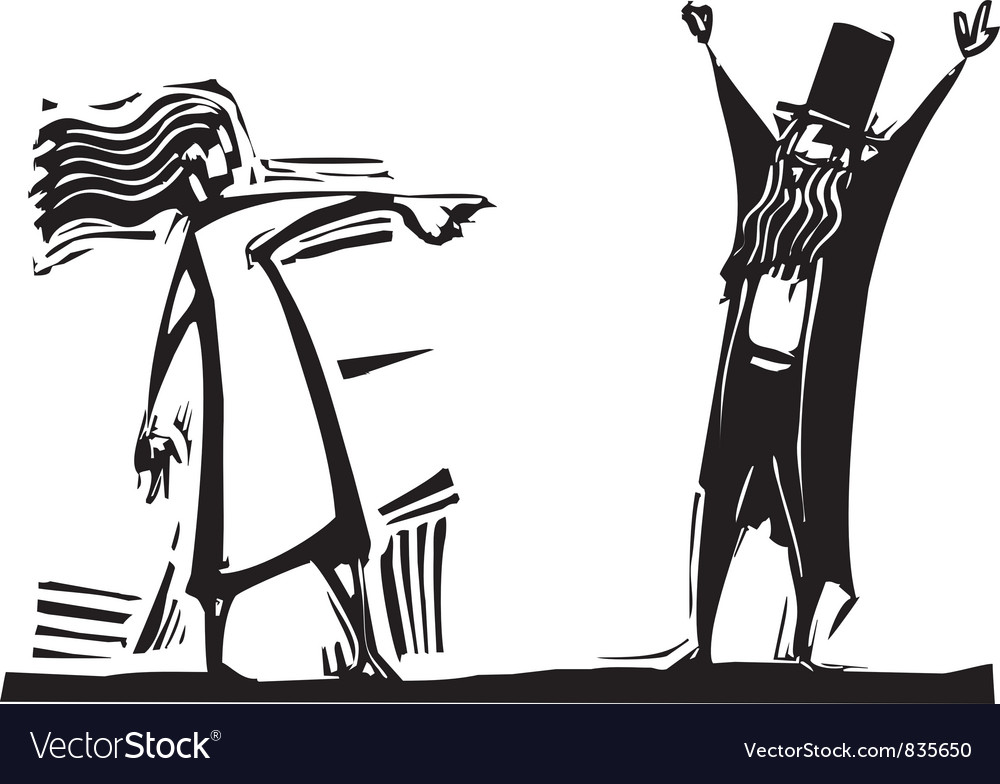 Woman Accuser vector image