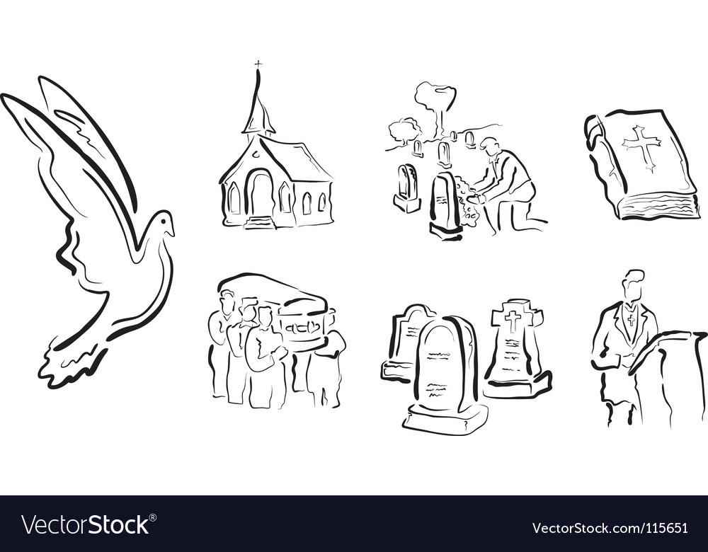 Religious icons vector image